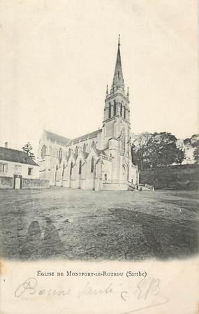 """.CPA FRANCE 72 """"Montfort le Rotrou, Eglise """""""