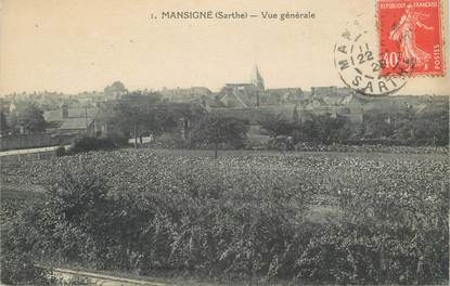 """.CPA FRANCE 72 """"Mansigné, Vue générale"""""""