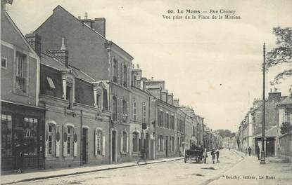 ".CPA FRANCE 72 ""Le Mans, Rue Chanzy"""