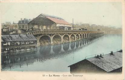 """.CPA FRANCE 72 """"Le Mans, Gare des tramways"""""""