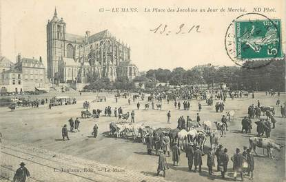 """.CPA FRANCE 72 """"Le Mans, Place des Jacobins"""""""