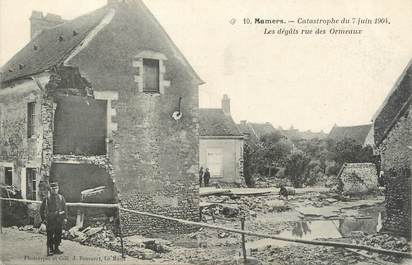 ".CPA FRANCE 72 ""Mamers, Catastrophe  du 07 juin 1904"""