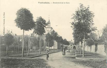 ".CPA FRANCE 72 ""Pontvallain, Boulevard de la gare"""