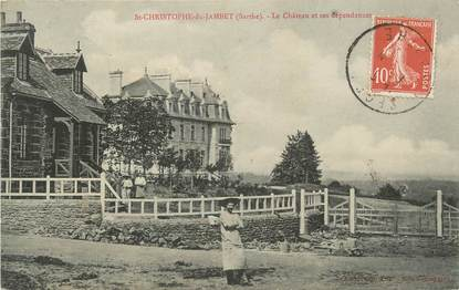 """.CPA FRANCE 72 """"St Christophe du Jambet,, Le château et ses dépendances"""""""