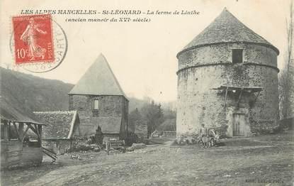 """.CPA FRANCE 72 """"Les Alpes Mancelles, St Léonard, La ferme de Linthe"""""""