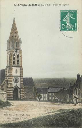 """CPA FRANCE 28 """"Saint Victor de Buthon, Place de l'Eglise"""""""