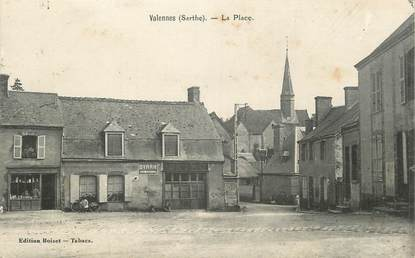 ".CPA FRANCE 72 "" Valennes, La place"""