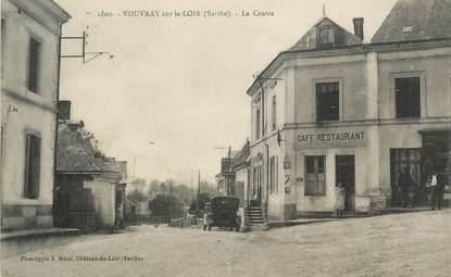 """.CPA FRANCE 72 """" Vouvray sur Loir, Le centre"""""""