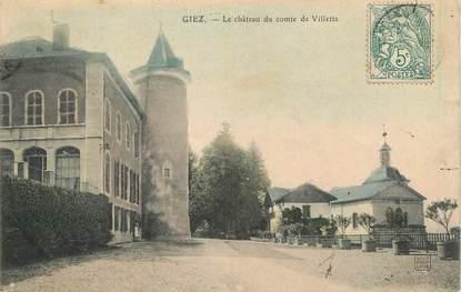 """.CPA FRANCE 74 """" Giez, Le château du Comte de Villette"""""""