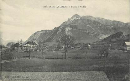 ".CPA  FRANCE 74 ""St Laurent, Pointe d'Andey"""