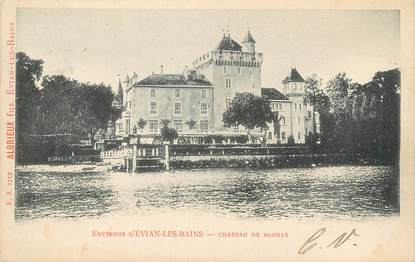 ".CPA  FRANCE 74 "" Blonay, le Château"""