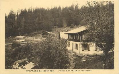 """.CPA  FRANCE 74 """" Coupeaux les Houches, L'Hôtel Trappier et les chalets"""""""