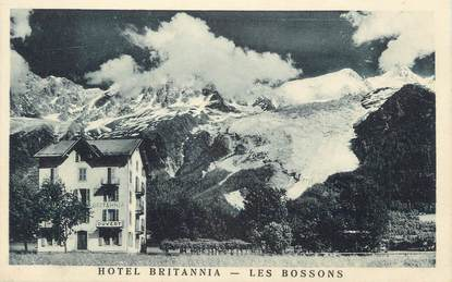 ".CPA  FRANCE 74 "" Les Bossons, Hôtel Britannia"""
