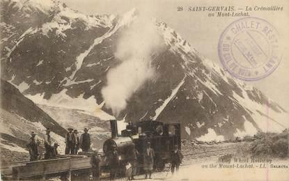 """.CPA  FRANCE 74 """" St Gervais les Bains, La Crémaillère au Mont Lachat"""""""
