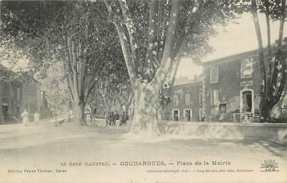 """CPA FRANCE 30 """" Goudargues, Place de la Mairie"""""""