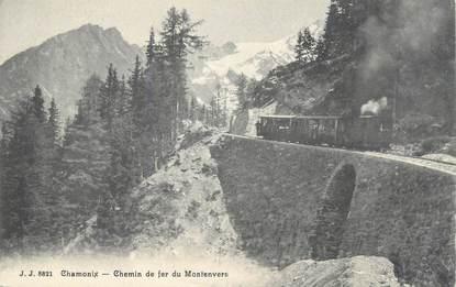 """.CPA  FRANCE 74 """" Chamonix, Chemin de fer de Montenvers""""/TRAIN"""