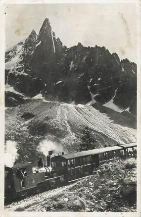 """.CPSM  FRANCE 74 """"Chamonix, Le chemin de fer du Montenvers, Mer de glace/TRAIN"""