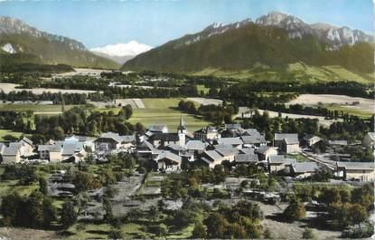 """.CPSM  FRANCE 74 """"Larringes, Vue générale et le Mont Blanc"""""""