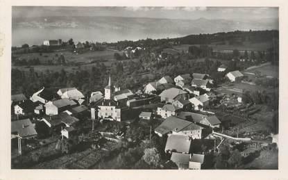 """.CPSM  FRANCE 74 """"Larringes, Le village, le château, le lac Léman et la côte suisse"""""""