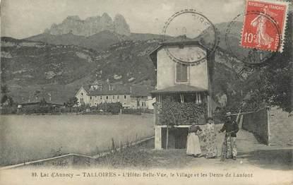 """.CPA  FRANCE 74 """"Talloires, Hôtel Belle Vue"""""""