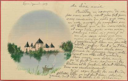 """.CPA  FRANCE 74 """"Annecy""""/CARTE DESSINEE"""