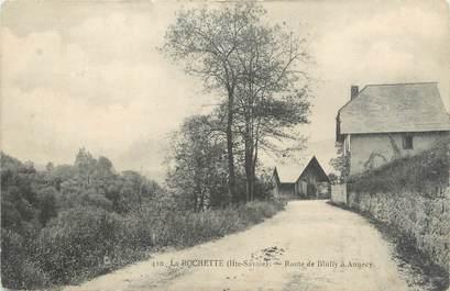 """.CPA  FRANCE 74 """"La Rochette, Route de Bluffy à Annecy"""""""