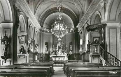 """.CPSM  FRANCE 74 """"St Félix,  Intérieur de l'église"""""""