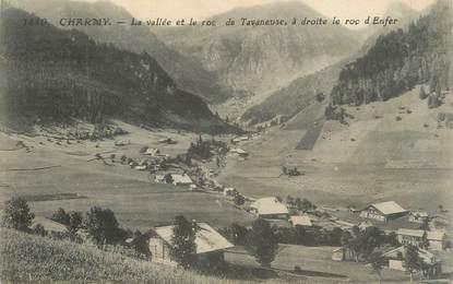 """.CPA  FRANCE 74 """"Charmy, La vallée et le roc de Tavaneuse"""""""