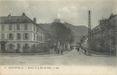 """.CPA  FRANCE 74 """"Bonneville, Entrée de la Rue du Pont"""""""