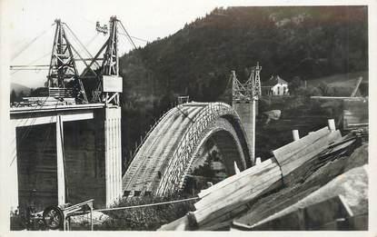 """.CPSM  FRANCE 74 """"Construction du Nouveau Pont de la Caille"""""""