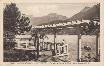 """.CPA  FRANCE 74 """"Lathuile, Vue sur le Lac d'Annecy et le Massif de la Tournette"""""""