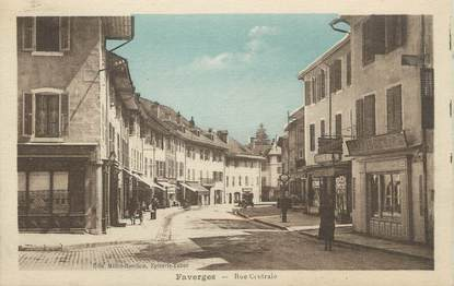 """.CPA  FRANCE 74 """"Faverges, Rue centrale"""""""