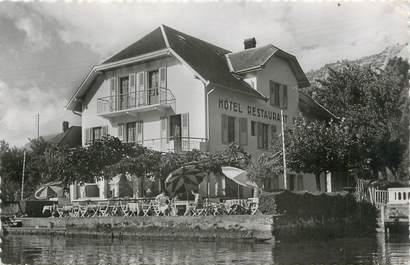 """.CPSM FRANCE 74 """"Doussard, Hôtel restaurant du port et du lac"""""""