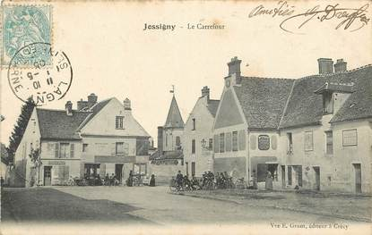 """CPA FRANCE 77  """"Jossigny, le Carrefour"""""""