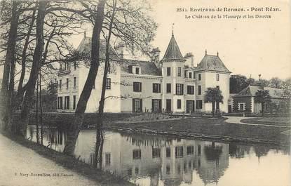 """CPA FRANCE 35 """"Env. de Rennes, pont Réan, chateau de la Massaye et les Douves"""""""