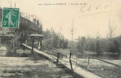 ".CPA FRANCE 74 ""Rumilly, Le pont de Iles"""