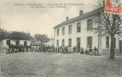 """.CPA FRANCE 74 """"Rumilly, Caserne du 30ème régiment d'infanterie, la cantine, les cuisines"""""""