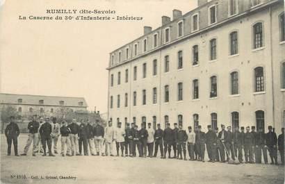 """.CPA FRANCE 74 """"Rumilly, Caserne du 30ème régiment d'infanterie, intérieur"""""""