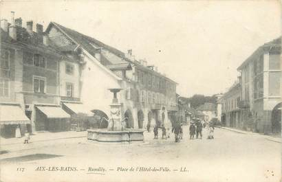 ".CPA FRANCE 74 ""Rumilly, Place de l'Hôtel de Ville"""