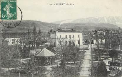 ".CPA FRANCE 74 ""Rumilly, La gare"""