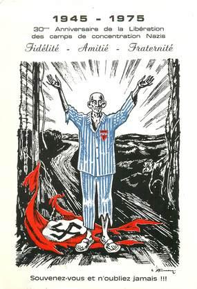 """CPSM MILITAIRE """" Libération des camps de concentration  Nazis1945"""""""