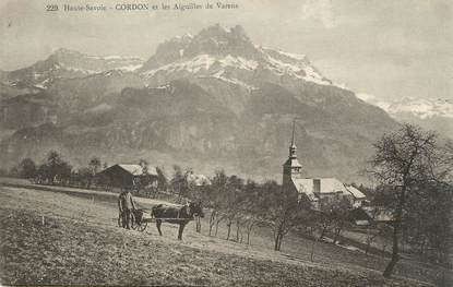 """.CPA  FRANCE 74 """"Cordon, Les aiguilles de Varens"""""""