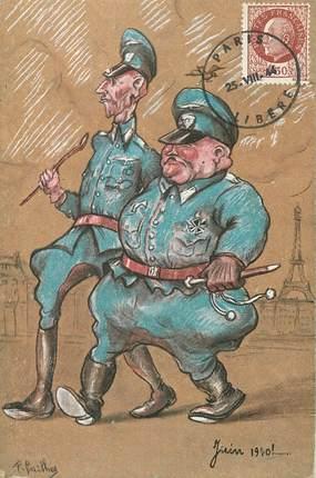 "CPA MILITAIRE / Juin 1940"" / HUMOUR / CARICATURE"