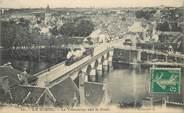 """36 Indre CPA FRANCE 36 """"Le Blanc, le Tramway sur le Pont"""""""