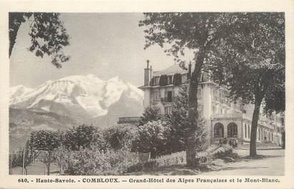 """.CPA  FRANCE 74 """"Combloux, Grand hôtel des Alpes Françaises"""""""