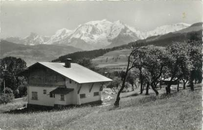 """.CPSM  FRANCE 74 """"Combloux, Vue sur le Mont Blanc"""""""