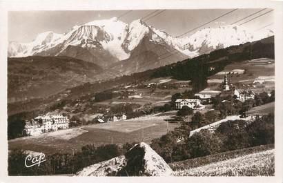 """.CPSM  FRANCE 74 """"Combloux, Vue générale et le Mont Blanc  """""""