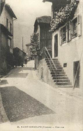 ".CPA FRANCE 74 ""Saint Gingolph, Une rue"""