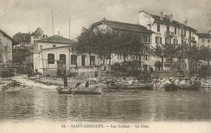 """.CPA FRANCE 74 """"Saint Gingolph, Le quai"""""""