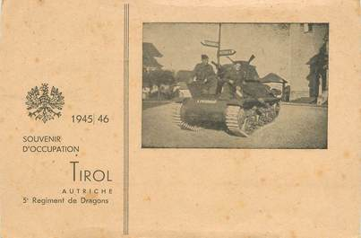 """CPSM AUTRICHE """"Tank, souvenir d'occupation 1945/6"""""""